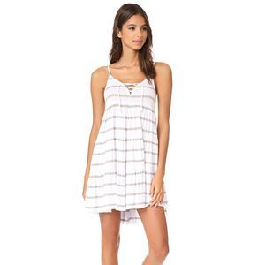 NWT Chaser lace up summer jersey tiered dress